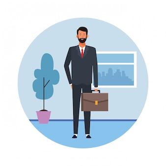 Bussinesman-avatar op kantoor