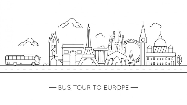 Bustour naar europa