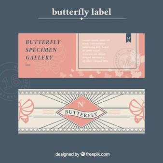 Butterfly label collectie