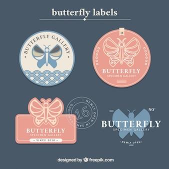 Butterfly label set