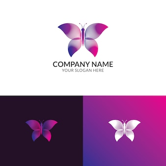 Butterfly logo ontwerp