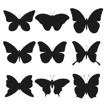 Butterfly silhouet dierlijke illustraties
