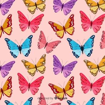 Butterfly zwerm vliegende patroon