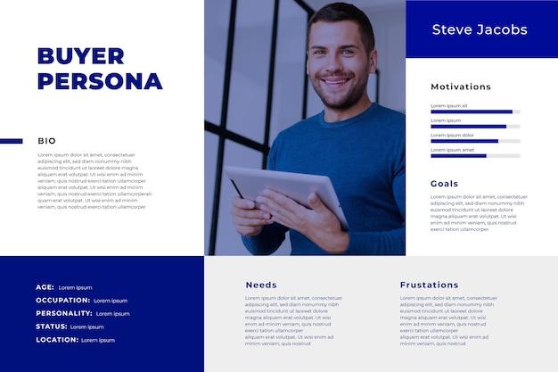 Buyer persona infographics met foto