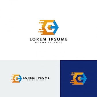 C brief logo sjabloon element vectorillustratie