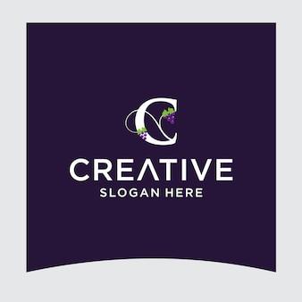 C druif logo ontwerp