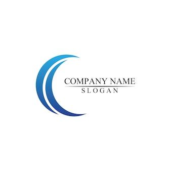 C en wave logo ontwerp icoon