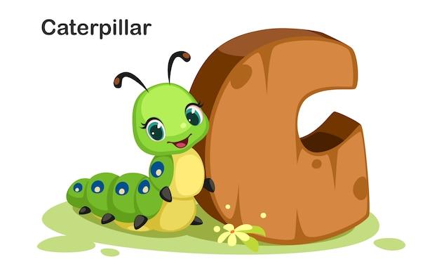 C voor caterpillar