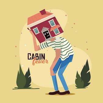 Cabin koorts concept Gratis Vector