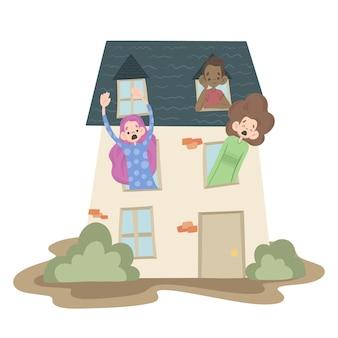 Cabin koorts illustratie concept