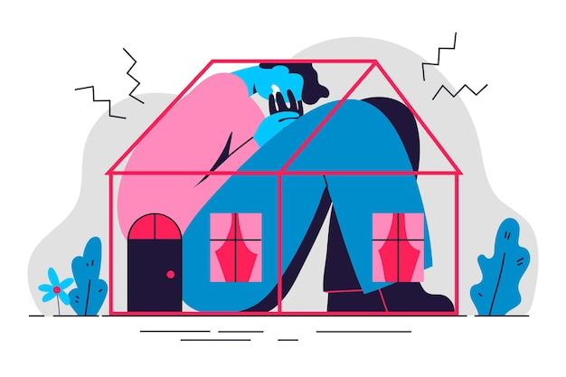 Cabin koorts illustratie ontwerp