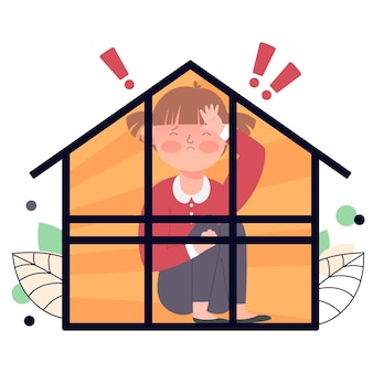Cabin koorts illustratie