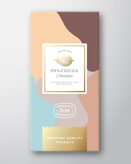 Cacao chocolade label.