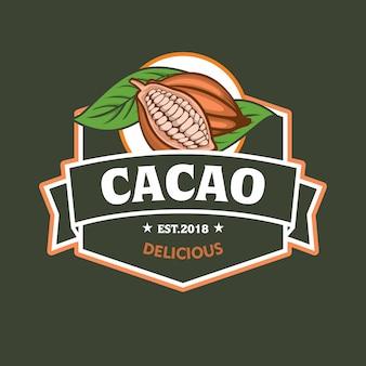 Cacao fruit logo embleem