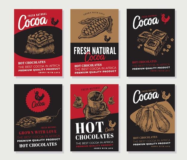 Cacao gegraveerde posters collectie