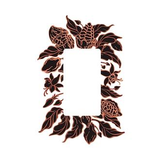 Cacao wikkel vector grafisch label biologisch donkere chocolade kunst boom schets textuur fruit bean