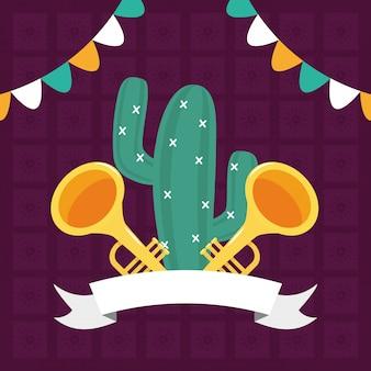Cactus en trompetten