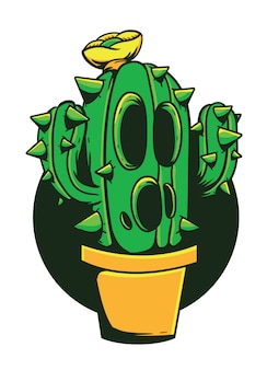 Cactus monster vectorillustratie