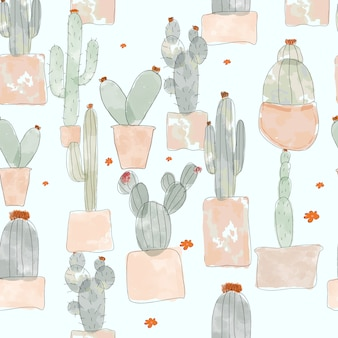 Cactus naadloos patroon