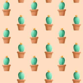 Cactus naadloos patroon.