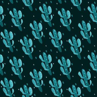 Cactus naadloos patroonontwerp als achtergrond