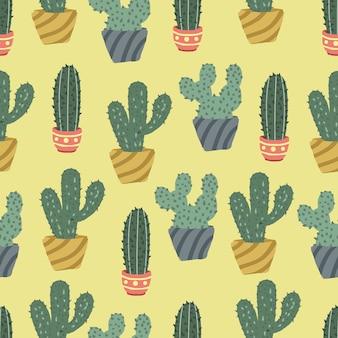 Cactus naadloze kleur achtergrond.