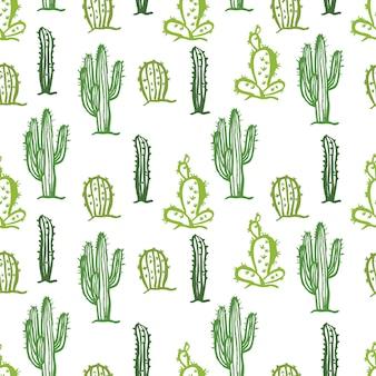 Cactus naadloze kleur achtergrond