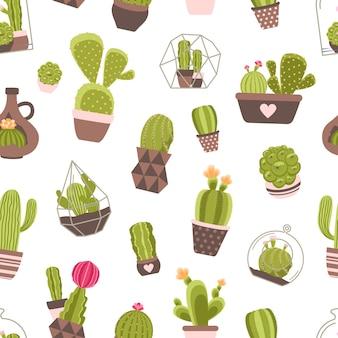Cactus naadloze patroon