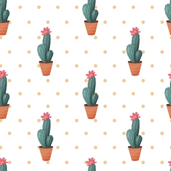 Cactus naadloze patroon.