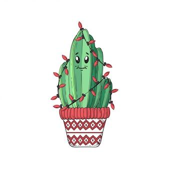 Cactus nieuw jaar.