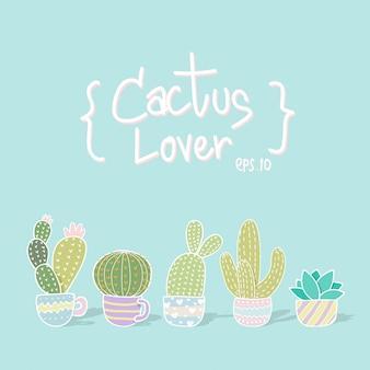 Cactus patroon achtergrond
