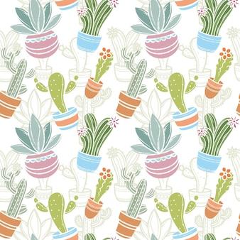 Cactus patroon collectie concept
