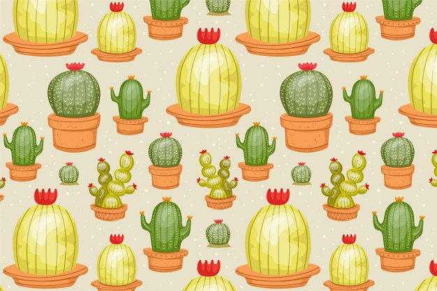 Cactus patroon collectie concept