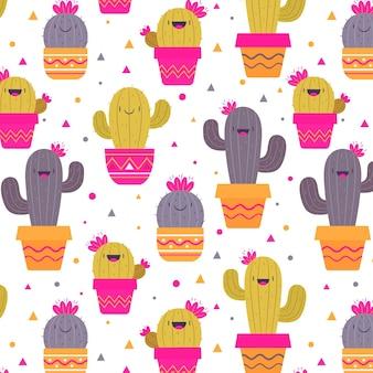 Cactus patroon collectie ontwerp