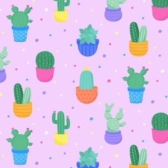 Cactus patroon collectie thema