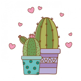 Cactus pictogram cartoon
