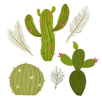 Cactus plant. modern plat concept.