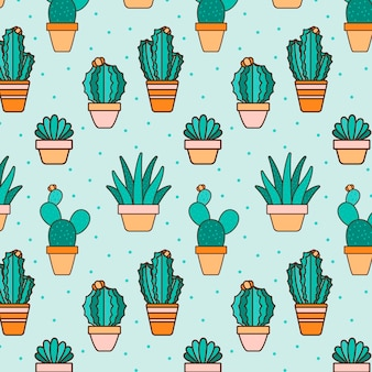 Cactus planten patroon collectie