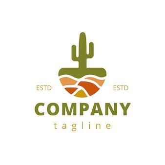 Cactus pot logo ontwerp