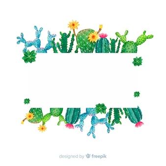 Cactus sjabloon voor spandoek