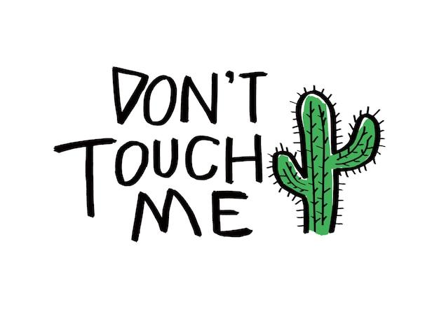 Cactus vector ontwerp van cactus patroon