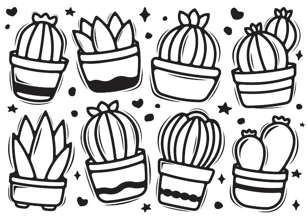 Cactuse krabbel doodle