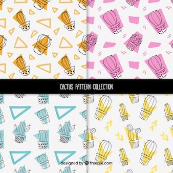 Cactuspatronen met geometrische vormen