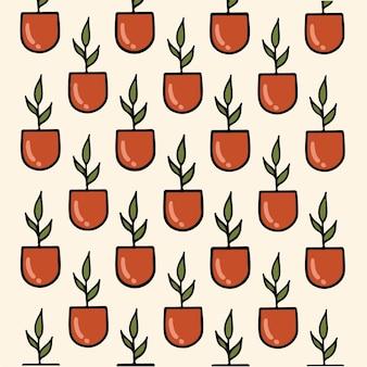 Cactuspatroon achtergrond botanische vectorillustratie
