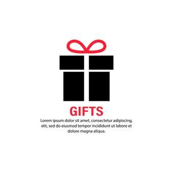 Cadeau icoon. aanwezig voor jubileum, verjaardag, kerstmis, nieuwjaar. vector op geïsoleerde witte achtergrond. eps-10.