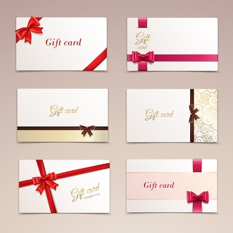 Cadeau kaarten ingesteld