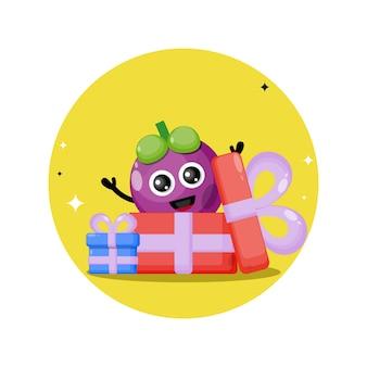 Cadeau mangosteen schattig karakter mascotte