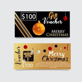 Cadeaubon sjabloon voor kerstmis