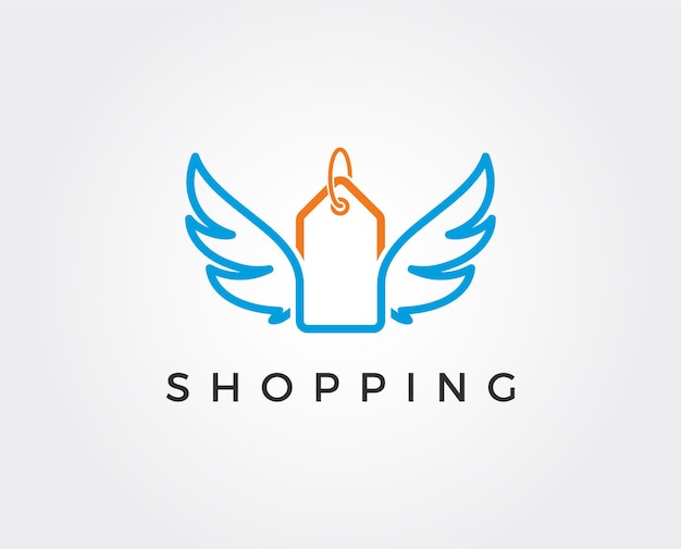 Cadeauwinkel logo symbool sjabloonontwerp