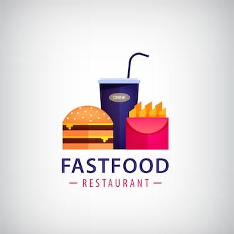 Café kleurrijke logo illustratie